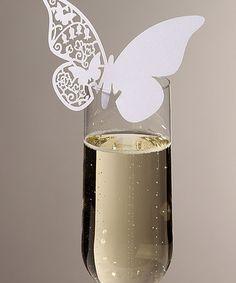 White Butterfly Place Card - Set of 10 #zulily #zulilyfinds