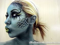 fish face makeup - Halloween Costumes 2013