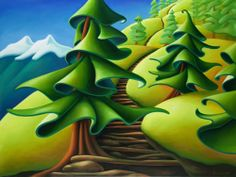 Grouse Grind Vista - Dana Irving - Dana Irving is a Canadian artist, living working in North Vancouver, British Columbia. Canadian Painters, Canadian Artists, New Artists, Abstract Landscape, Landscape Paintings, Abstract Art, Emily Carr, Group Of Seven, Impressionist Paintings