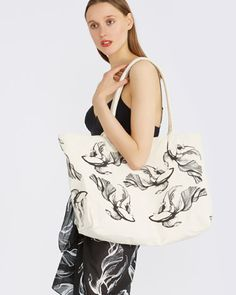 Shoes and Accessories | PRINT Carolyn Donnelly The Edit Canvas Print Bag | Dunnes Stores