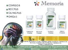 Sientes que se te olvidan muy fácil las cosas? A lo mejor lo que hace falta es tomar unos #Suplementos para ayudarte. Con .....#Nutrilite vas a encontrar las mejores opciones para lo que necesitas. #Memoria #ComplejoB #BioCPlus #CalMagD #Omega3 #Amway #LDAmway