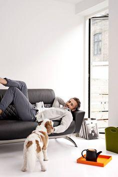 Heute mal ganz entspannt...  Stressless® YOU Michelle Sofa als 2-Sitzer in der Ausführung Leder 'Batick' Black