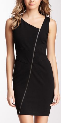 Diagonal Zip Dress