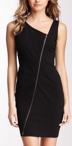 Diagonal Zip Dress