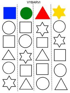 Kindergarten Learning, Preschool Learning Activities, Kids Learning, Handwriting Worksheets For Kids, Kids Math Worksheets, Body Preschool, Preschool Math, Learning Shapes, Math For Kids