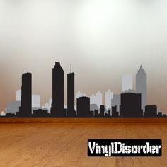 HIGH QUALITY Edmonton Canada City Skyline Decal Vinyl Silhouette - Custom vinyl decals edmonton