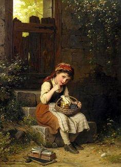 Johann Georg von Meyer Bremen - artist german născut 1813 - decedat 1886. 4