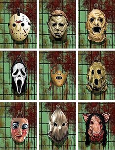 Horror collection!  Friday the 13th, Halloween, The Texas Chain Saw Massacre, Scream, Hannibal/The Silence of the Lambs, Dark Night of The Scarecrow, Alice Sweet Alice, Town that Dreaded Sundown, Saw