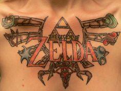 The Legend of Zelda Tattoo Video Game Tattoos, Tattoo Videos, Cool Tattoos For Guys, Love Tattoos, Awesome Tattoos, Legend Of Zelda Tattoos, Stone Tattoo, Tribute Tattoos, Cute Tats