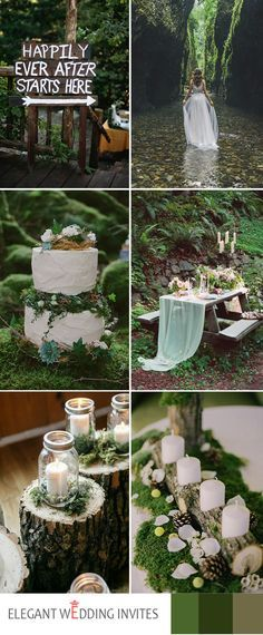 2017 full greenery woodland wedding themes trends