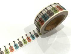 1PC Japanese Washi Tape Craft Sticker, Rainbow Guitar Music Instrument 10METRE in Crafts, Scrapbooking, Adhesives | eBay