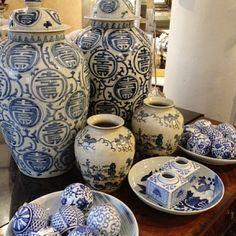porcelana china azul