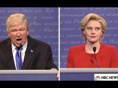 SNL Debate: Alec Baldwin's Trump Gets Trounced by Kate McKinnon's Hillary Usa Culture, Trump Debate, Interesting News Articles, Kate Mckinnon, Alec Baldwin, Season Premiere, Saturday Night Live, Snl, Hilarious