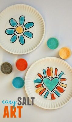 Colored Salt Fun! Another great art experience for kids