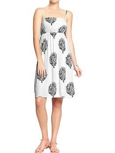 Floral-Print Sundress - white with black design at Old Navy