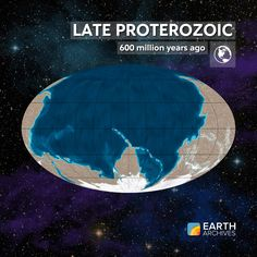 Late Proterozoic - 600 million years ago. #continentaldrift #tectonicplates #earth #lateproterozoic #proterozoic #science #geology #paleontology #fossils #precambrian #continentaldrift #tectonic #earth