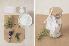 Salt's with Lavender. Nice as a  wedding favor.