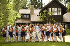 Large Bridal party, cute picture