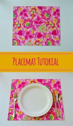 Basic Placemat Tutorial – Mary Martha Mama- How to sew your own placemats