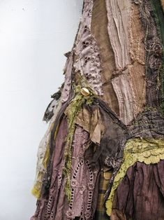 crafted from a myriad of antique & vintage fabrics, lace, remnants & leaf dreams ~ Gibbous Fashions Boro, Textile Fabrics, Textile Art, Embroidery Transfers, Embroidery Thread, Altered Couture, Quirky Fashion, Fabric Manipulation, Vintage Embroidery