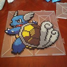 Wartortle Pokemon perler beads by pixelperlerart