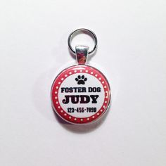 FOSTER DOG PERSONALIZED  Id tagChoose color by AnnmarieJewelryTree
