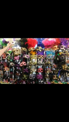 Handmade masks in New Orleans. The colors are so vibrant! -Hannah Lee