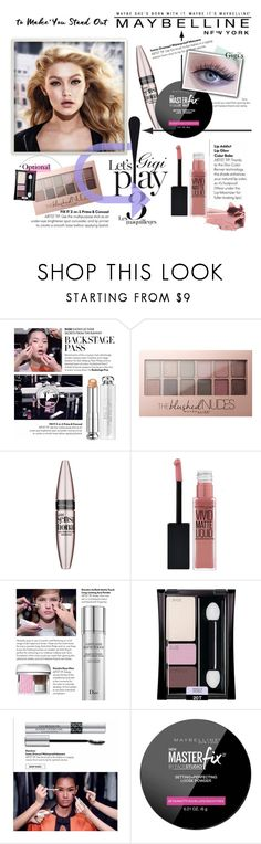 """""""Maybelline NY: Be a lady lip addict"""" by egagarza ❤ liked on Polyvore featuring beauty and Maybelline"""