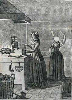 Hearth, 18th Century, Art Work, Revolution, Kitchens, Portraits, Houses, Plates, Interiors