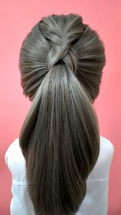 Cute Ponytail Hairstyles, Cute Hairstyles For Medium Hair, Work Hairstyles, Pretty Hairstyles, Medium Hair Styles, Quick Hairstyles, Hairdo For Long Hair, Long Hair Video, Hair Style Vedio