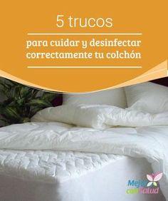 5 trucos para cuidar y desinfectar correctamente tu colchón La #limpieza y desinfección del colchón es fundamental para evitar la proliferación de ácaros y #bacterias. Descubre 5 trucos para facilitar esta tarea.