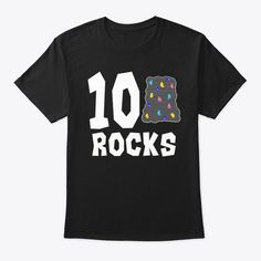 Kids 7 Year Old Rock Climbing Birthday Black T-Shirt Front