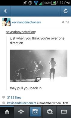 "Every time haha :D You don't just ""get over One Direction"" and you never will."