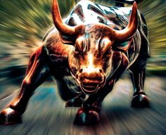 Find the best Wall Street Bull Wallpaper on GetWallpapers. We have background pictures for you! Wolf Of Wall Street, Street Art, Bulls Wallpaper, Mobile Wallpaper, Charging Bull, Bull Painting, Bull Tattoos, Taurus Tattoos, Heineken