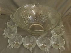Punch Bowl and 12 Glasses