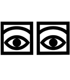 Olle Eksell's iconic Mazetti Cacao Eye design, a pictogram for the chocolate and confectionery manufacturer.