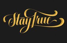 Stay True Gold by Neil Tasker