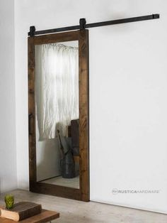 Must have barn door for my master bedroom at http://rusticahardware.com/mirror-door/