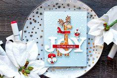 Yana Smakula - Simon Says Stamp Stacking Animals + Christmas Cats (antlers) JOY card