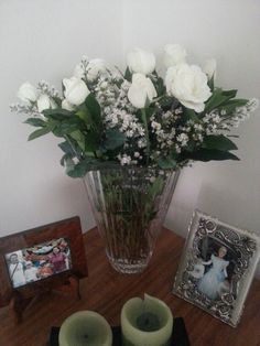 Dozen white roses from my love valentine's day 2014