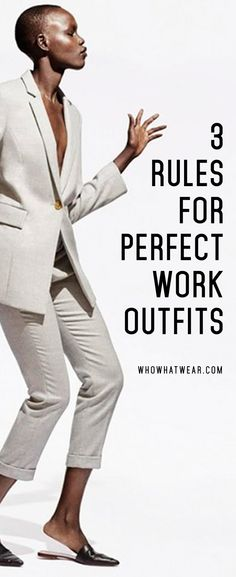 The 3 key ways to create a chic and practical work wardrobe - doubly good advice for business travel. Business Outfit Frau, Business Attire, Business Fashion, Office Fashion, Work Fashion, Business Travel, Business Women, Power Dressing Women, Paar Style