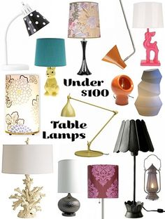 Table Lamps For Under $100