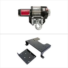 Winch with Wire Rope and Mount Plate 2500 lb for Kawasaki PRAIRIE 360 2X4 2003-2009