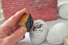 Hand-stamped eggs