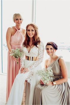 A Grecian Goddess Wedding With Modern Touches of Gold