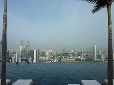 The infinity pool at the Marina Bay Sands in Singapore.
