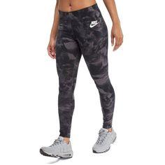Nike Glacier AOP Leggings (730 ARS) ❤ liked on Polyvore featuring pants, leggings, nike, nike leggings, sports leggings, nike pants and nike trousers