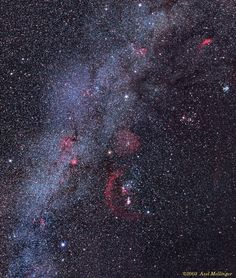 Clusters and Nebulae of the Hexagon   (Credit/Copyright: Axel Mellinger)