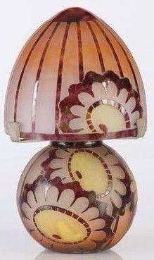 Lampe de table Charder/Le Verre Français réalisée par Charles Schneider (1881-1953).