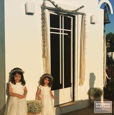 | Beautiful Sunset Wedding | Βασίλης & Κωνσταντίνα | #greekwedding #sunsetwedding #babybridesmaid #hairaccesory #flowercrowns #weddingdecor #weddingflower #myconianglyfadawedding